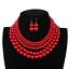 Women-Bohemian-Choker-Chunk-Crystal-Statement-Necklace-Wedding-Jewelry-Set thumbnail 60