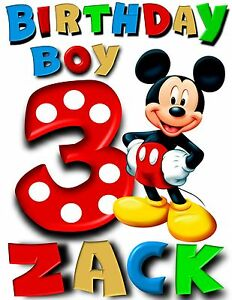 Personalized Custom Mickey Mouse clubhouse t shirt party favor birthday present