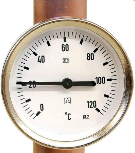 """Anlegethermometer Bi 63 A Montagefeder von 3//8/""""-1 1//2/"""" Gehäuse ø 63 mm"""