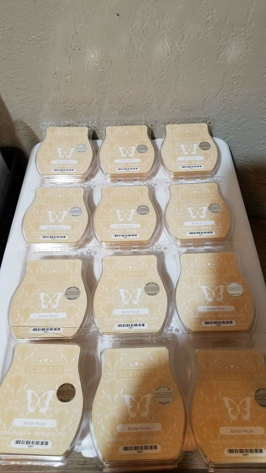 HUGE SCENTSY BARS BBMB LOT OF 12 BUTTER PECAN  BARS -FREE SHIPPING PRIORITY