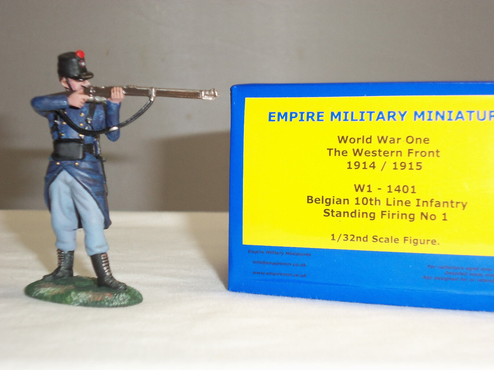 EMPIRE W1-1401 BELGIAN 10TH LINE INFANTRY STANDING FIRING METAL TOY SOLDIER