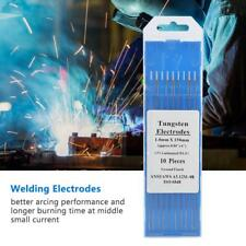10pcs Stainless Steel Metal Welding Wl15 Lanthanum Tungsten Tig Electrodes New