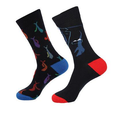 Mens Unusual Cotton Socks Novelty Funny Bear Dog Hamburger Cool Skate Socks 9-13