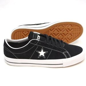 Details about CONVERSE CONS ONE STAR PRO OX BLACK WHITE SKATEBOARD NEW UK 5 11 12 SALE