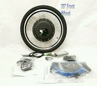 48v 1000w Electric Bike Front 20 Wheel Conversion Kit 880 Led No Battery