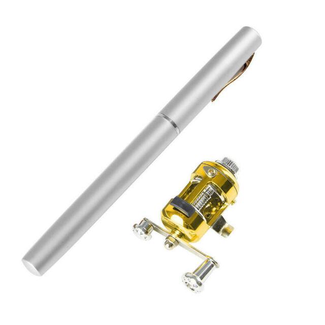 2Mini Portable Pocket Fish Pen Aluminum Alloy Fishing Rod Pole Reel Combos Set