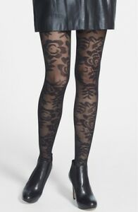 18b6f4850 Image is loading Commando-039-Poppy-Floral-039-Tights-122933-Black-
