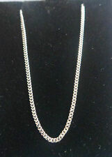 "9ct WHITE GOLD fine STRONG CURB CHAIN 18"" Ideal for pendants Spring ring clasp"