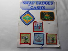 SWAP BADGES BY CASH'S SIX (6)TOTAL ON CARDBOARD  E183