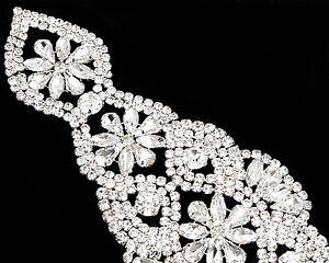 strass-sposa-argento-CRISTAL-Diamante-motivo-matrimonio-220mm-x-65mm-TOPPA-B012