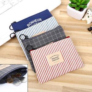 Women-Canvas-Mini-Wallet-Card-Holder-Zip-Coin-Purse-Clutch-Handbag-Organizer