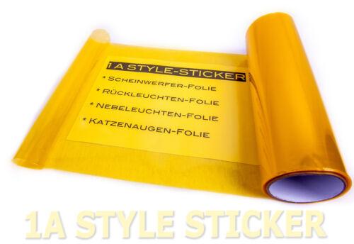 Jaune Phares DIAPOSITIVE 100 cm x 30 cm Teinte Film nebenlscheinwerfer WRC Yellow