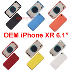 OEM-Replacement-Back-Rear-Glass-Housing-Battery-Door-Cover-Frame-For-iPhone-XR