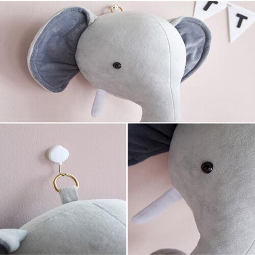 Wall Hanging Simulated Animal Head Doll Elephant Stuffed Toy Wall Decoration