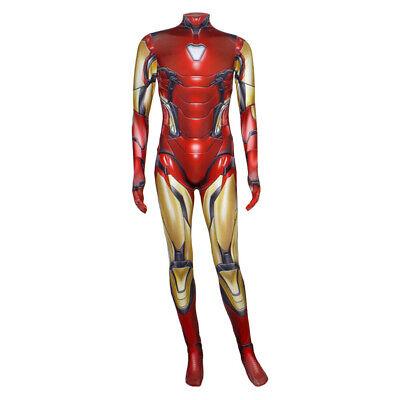 Marvel Avengers4 Endgame Cosplay Iron Man Tony Stark Adult Kid Jumpsuit Costume