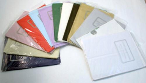 Papier Carrées Tablecovers nappes Tablecovers toutes les couleurs 10-50 Packs Succès.