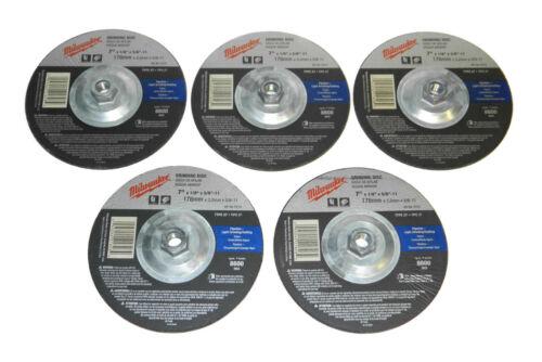 "5x Milwaukee 49-94-7015 Type-27 Grinding Wheel 7/"" x 1//8/"" x 5//8/""-11"