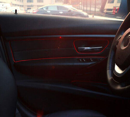 Universal Car Interior Garnish 5M Roll Point Molding Accessory Red Edge Gap Line
