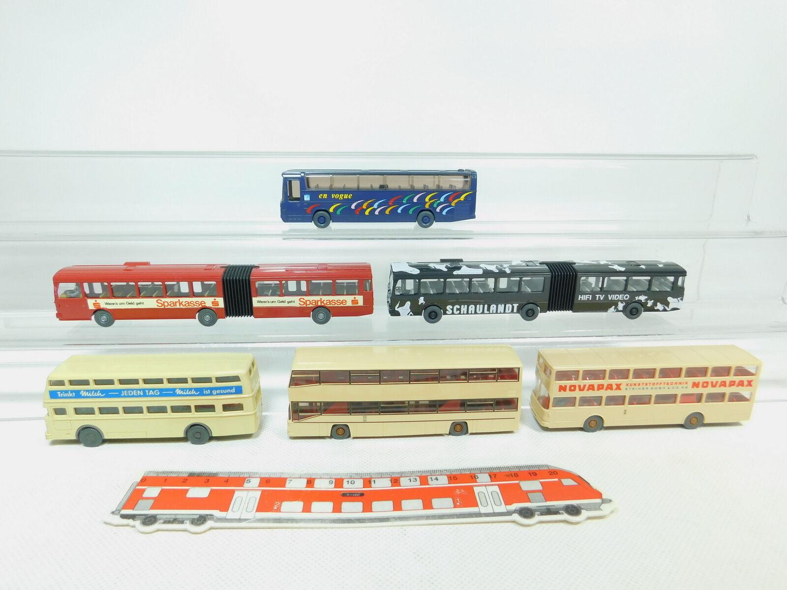 BN115-0,5 x Wiking H0   1 87 Bus  Büssing + Man Novapax + Mercedes-Benz   MB
