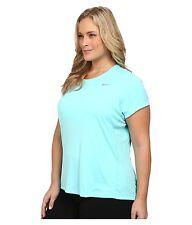 Womens NIKE DRI-FIT Miler shirt TOP PLUS Size  3X 3xl xxxl 22 24  NEW light aqua