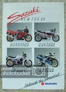 SUZUKI-MOTORCYCLES-RANGE-Sales-Brochure-For-1989-RGV250-GSXR1100-GSXR750-RG500