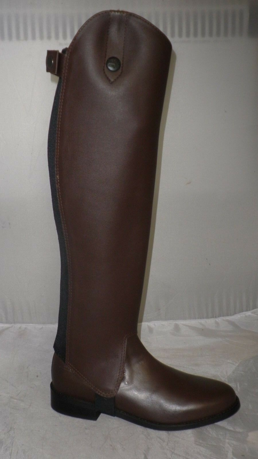 Saddle Craft Leather Half Chaps In Brown Various Sizes