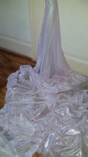 "1M pale  BABY PINK holagram SHIMMER  self print DRESS CHIFFON FABRIC 58/"" WIDE"