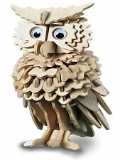 OWL Woodcraft Construction Kit - New Bird Wooden 3D Model Puzzle KIDS/ADULTS