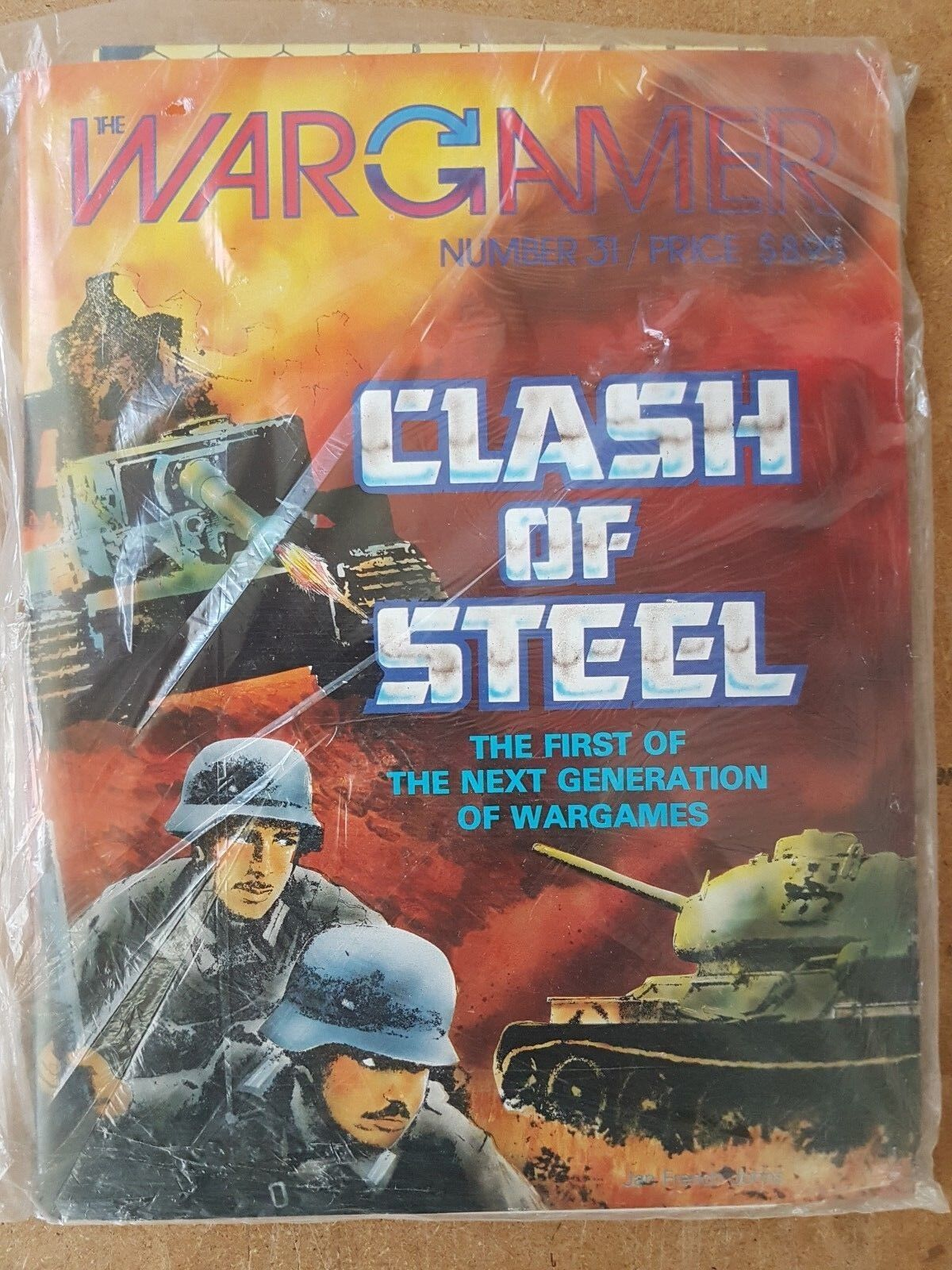 THE WARGAMER NUMBER 31  - CLASH OF STEEL -  GAME MINT & UNPUNCHED