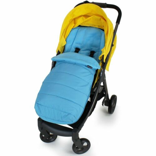 Ocean Blue XXL Large Luxury Foot-muff And Liner For Mamas And Papas Armadillo
