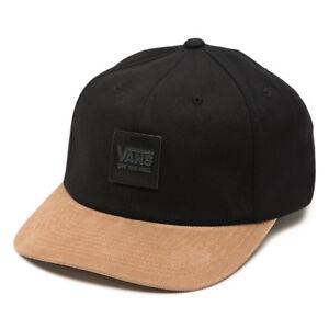 59b6dbdfe0a1fb Vans GLAZIER Mens Strapback Hat (NEW) Black Corduroy OFF THE WALL ...