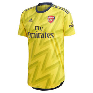 adidas-Men-039-s-Arsenal-FC-19-20-Authentic-Away-Jersey-Eqt-Yellow-EH5638