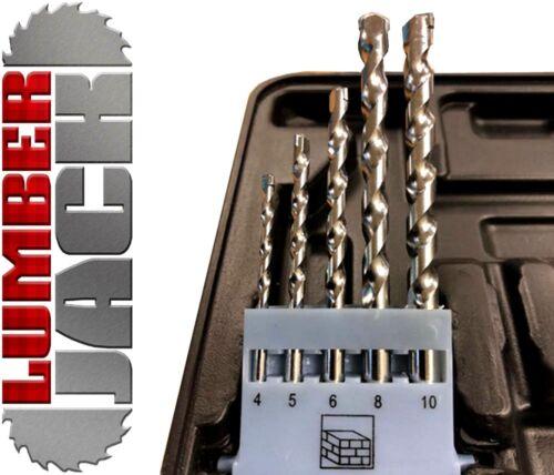 46 Piece Drill Bit Set HSS Masonry Metal Wood Flat Pozi Bits Countrsink /& Case