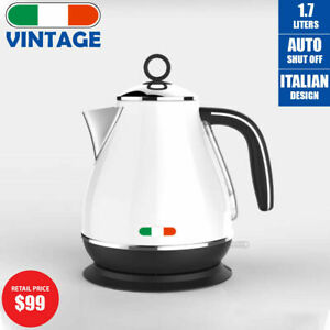 Vintage-Electric-Kettle-White-1-7L-Stainless-Steel-Auto-OFF-2200W