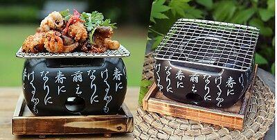 Home & Garden Adroit Ceramic House Hold Mini Black Square Brazier Made In Korea /15x15x13cm Sophisticated Technologies