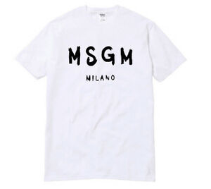 0596ca56d MSGM MILANO T-shirt Fashion Tops Tee tumblr shirt Sayings Slogan ...