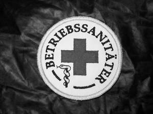 Betriebssanitäter logo  BETRIEBSSANITÄTER Rundemblem Emblem Patch Aufnäher NEU | eBay