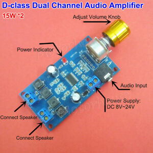DC-12V-24V-Class-D-Digital-Audio-Amplifier-Board-Dual-Channel-15W-2-Power-Amp
