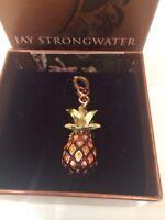 Jay Strongwater Swarovski Crystals Pineapple Charm NWB