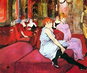 Salon-in-the-Rue-de-Moulins-by-Toulouse-Lautrec-Giclee-Repro-on-Canvas