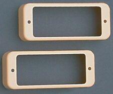 NEW - Set Of 2 Mini Humbucking Pickup Rings - CREAM