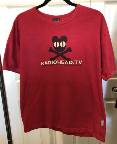 Vintage Radiohead T Shirt 2000s Size L