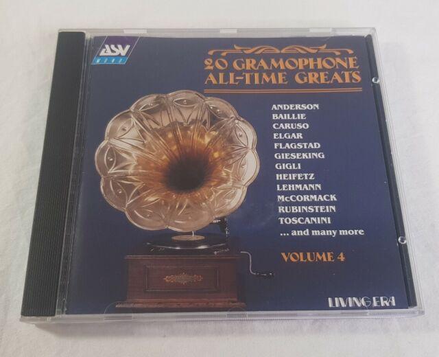 20 Gramophone All Time Greats Vol 4 CD Living Era Original Mono Recordings 1996