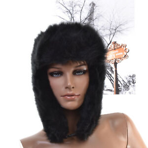 13ab57cfd9e71 CHAPKA Femme BONNET CHAPEAU FAUSSE FOURRURE noir OLGA ZAZA2CATS | eBay