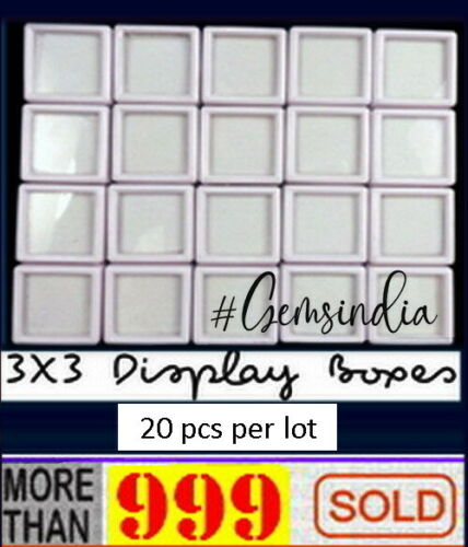 20 Pcs 3x3cm Wholesale Gem Display plastic box Storage for Gemstones//Diamond