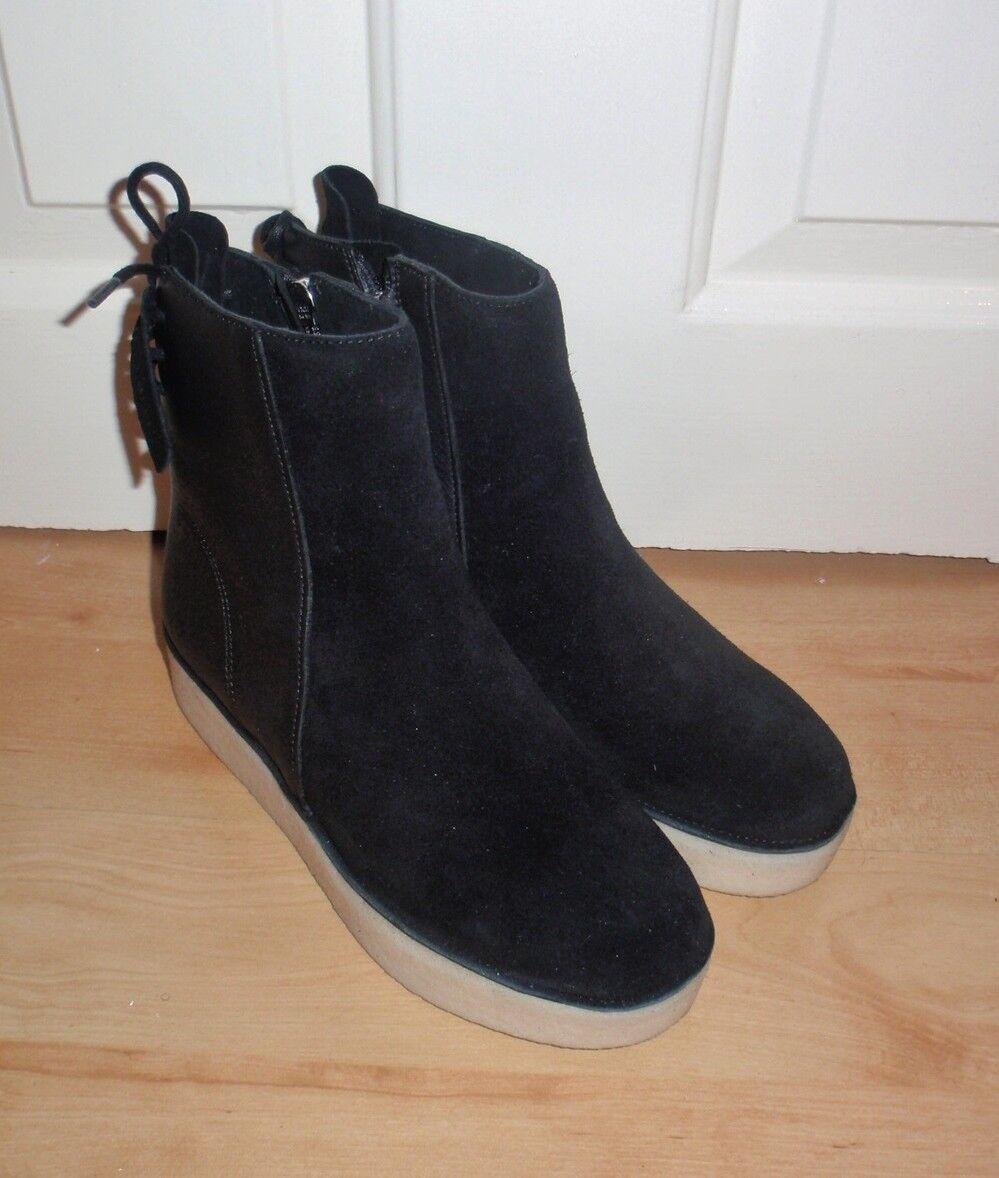 Nuevo Y en Caja Clarks Orignales Orignales Orignales Para Mujer timberly Grace Negro botas Desierto de cuero y ante  contador genuino