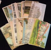 Antique & Vintage Lot of 25 Various Circulated POSTCARDS Early-Mid 1900s (#3)