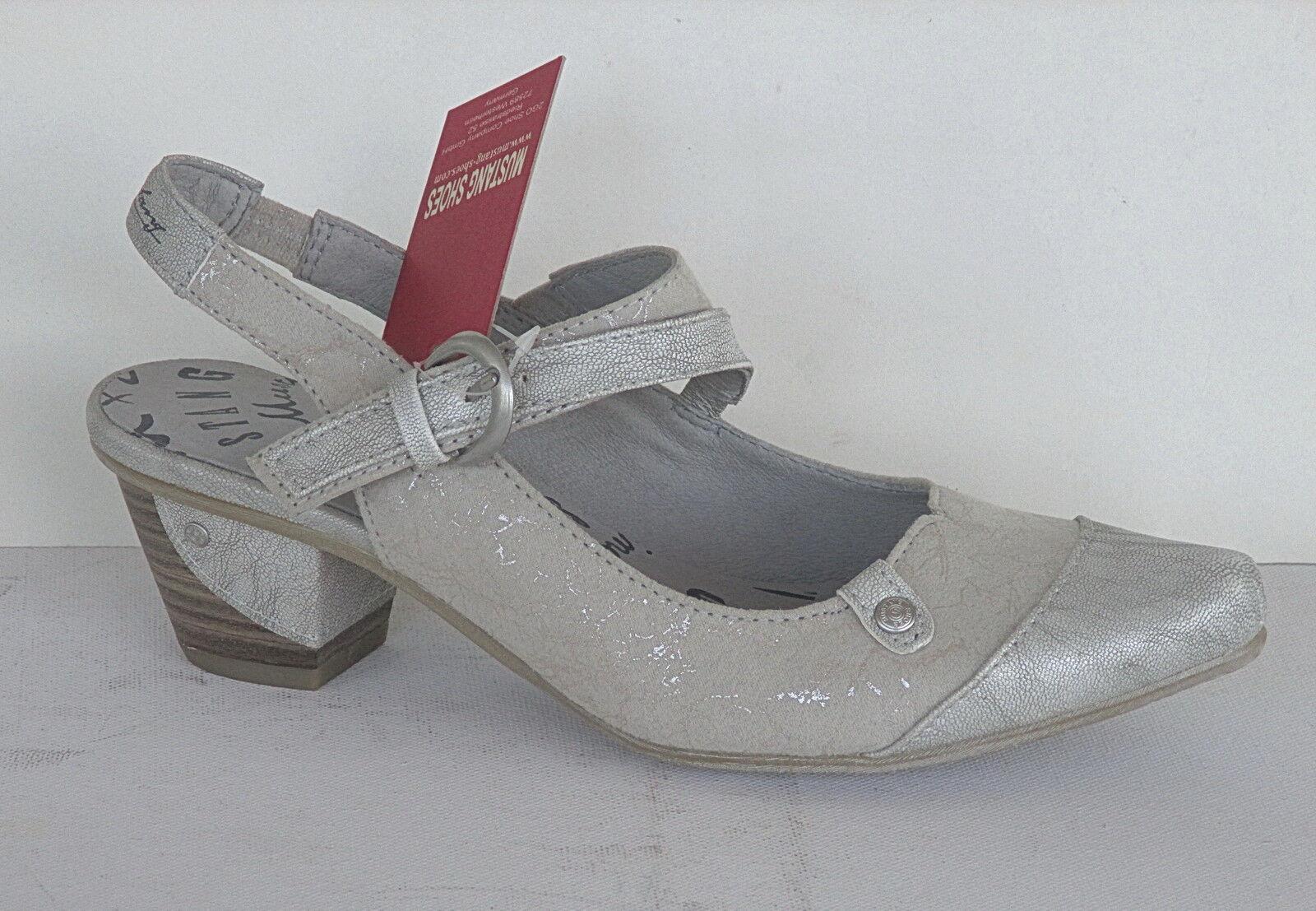 Mustang Damen  Schuhe Damen Mustang Schuhe Pumps  Art. 1227-901-203, Silber+++NEU+++ 922a39