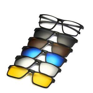 data di rilascio: 8d17f 241e9 Details about 5 PCS occhiali da sole lenti clip on magnetica + 1 Pc Telaio  occhiali da vista