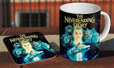 The Neverending Story Falcor Ceramic Coffee MUG Coaster Gift Set /…